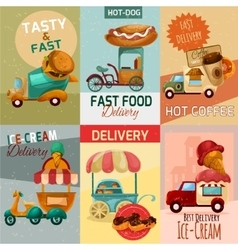 Fast Food Delivery Posters vector image