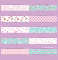 Festive textile ribbons set vector