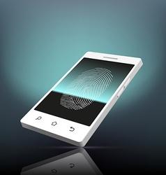 Fingerprint scanning Stock vector image