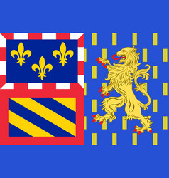 Flag of bourgogne-franche-comte is a region of vector