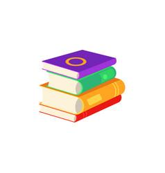 flat book pile or column vector image