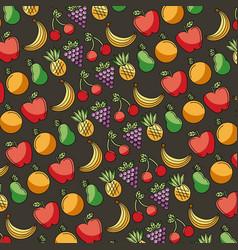 fresh food fruits seamless pattern vector image