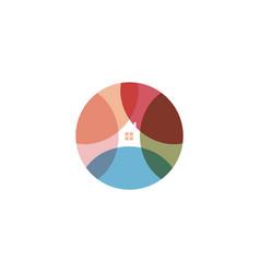 gardening round logo landscape design logotype vector image