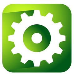 gearwheel rack wheel gear icon sign service vector image