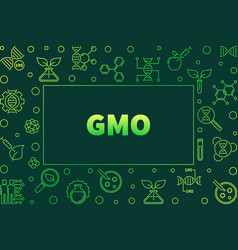 Genetically modified organism outline green vector