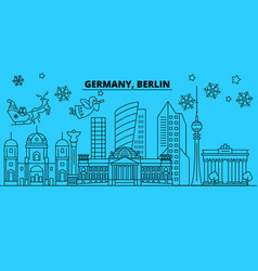 germany berlin city winter holidays skyline vector image