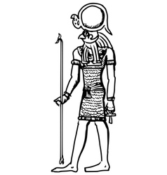 god of ancient Egypt vector image