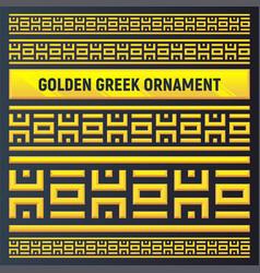 Golden ancient mythology ornament vector
