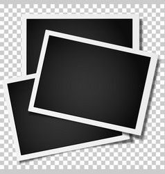group of retro realistic photo frames vector image