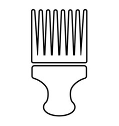 haircut fix comb icon outline style vector image
