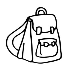 hand drawn bagpack doodle icon isolated on white vector image