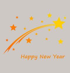 Happy new year on gray vector