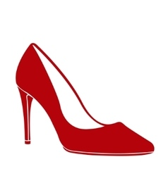 High heel shoe vector image