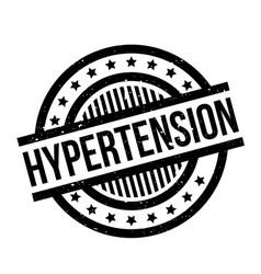 Hypertension rubber stamp vector