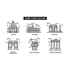 Icon rome flat vector
