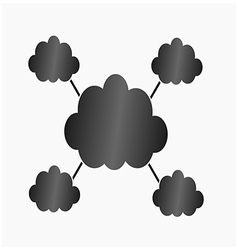Infographic black clouds vector