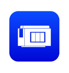 Inkjet printer cartridge icon digital blue vector