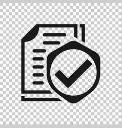Insurance policy icon in transparent style report vector