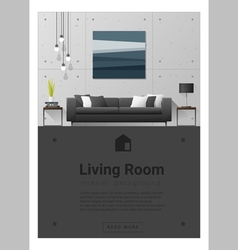 Interior design Modern living room banner 6 vector image