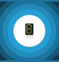 Isolated calculator flat icon calculate vector