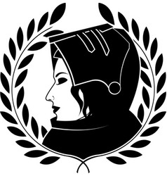 Jeanne darc and laurel wreath vector