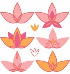 lotus design elements vector image vector image