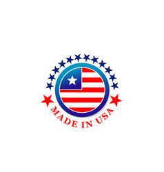 Made in usa creative badge vector