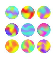 modern futuristic gradient elements set vector image
