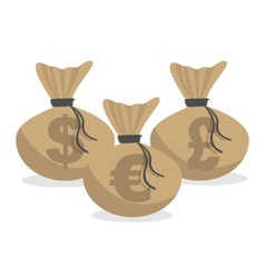 money bags vector image