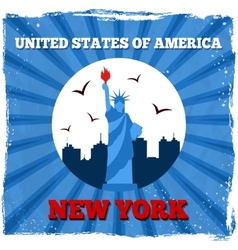 New York USA retro poster vector