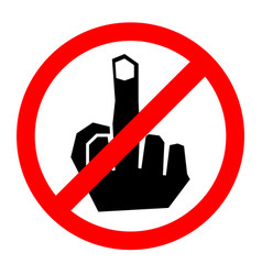 no finger sign icon vector image