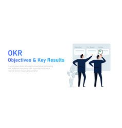 Okr objectives and key results vector