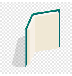 Open book stands upright isometric icon vector