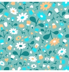 Ornate beauty flower seamless pattern Abstract vector