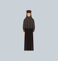 Orthodox nun representative of religious vector