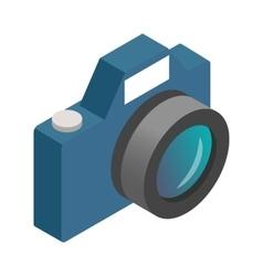 Photo camera isometric 3d icon vector image