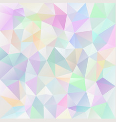 Polygonal square background pastel variegated vector