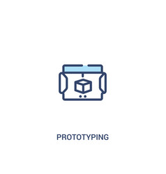 Prototyping concept 2 colored icon simple line vector