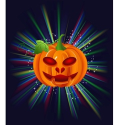 Pumpkin on halloween vector