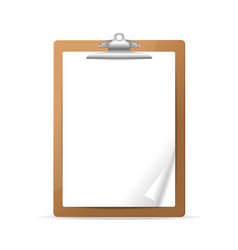realistic detailed 3d clipboard vector image