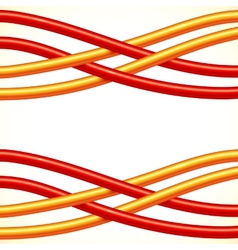 Red and orange crossed cables background vector