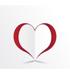 red heart paper sticker vector image