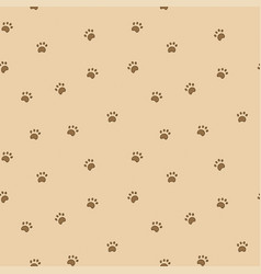Seamless pattern with paws vector