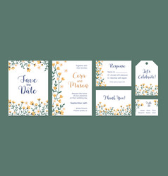 set vertical and horizontal card templates and vector image