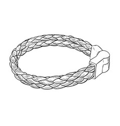 Sketch of leather bracelet vector