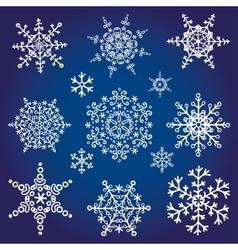 snowflakes icon collectionwinter shape vector image