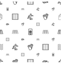 soccer icons pattern seamless white background vector image