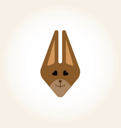Squirrel mask for a children party masquerade vector