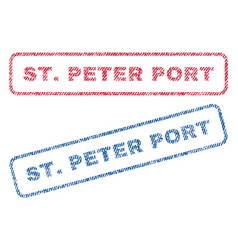 Stpeter port textile stamps vector