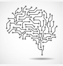 Technological brain vector